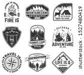 set of outdoor adventure quotes ... | Shutterstock .eps vector #1527480419