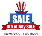 4th of july sale banner   Shutterstock .eps vector #152748704