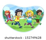 catch and run. vector eps10.   Shutterstock .eps vector #152749628