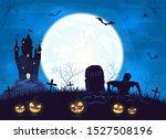 terrible castle  silhouette... | Shutterstock . vector #1527508196