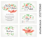 wedding invitation  thank you... | Shutterstock .eps vector #152753060