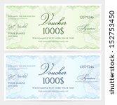 gift certificate  voucher ... | Shutterstock .eps vector #152753450