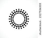 black abstract vector circle... | Shutterstock .eps vector #1527536333