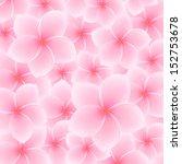 tropical pink plumeria ... | Shutterstock .eps vector #152753678