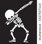 vector skeleton dancer.... | Shutterstock .eps vector #1527537113