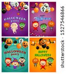 halloween party violet  blue... | Shutterstock .eps vector #1527546866