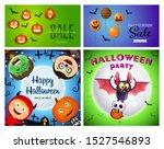 halloween sale green  blue... | Shutterstock .eps vector #1527546893
