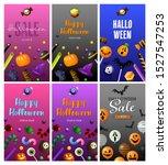 halloween purple  gray  green... | Shutterstock .eps vector #1527547253