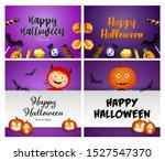 happy halloween violet banner... | Shutterstock .eps vector #1527547370