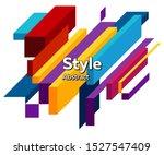 futuristic geometric figure.... | Shutterstock .eps vector #1527547409
