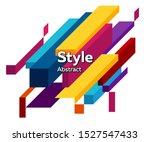 futuristic geometric shape.... | Shutterstock .eps vector #1527547433