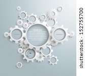 white gears with on the grey... | Shutterstock .eps vector #152755700