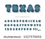 texas denim modern font. jeans... | Shutterstock .eps vector #1527570053