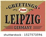 vintage touristic greeting card ... | Shutterstock .eps vector #1527573596