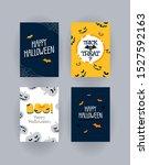 happy halloween spooky posters...   Shutterstock .eps vector #1527592163