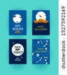 halloween posters vector... | Shutterstock .eps vector #1527592169