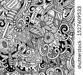 cartoon cute doodles hand drawn ... | Shutterstock . vector #1527609533