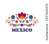 mexican pattern beautiful... | Shutterstock .eps vector #1527634373