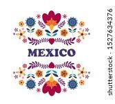 mexican pattern beautiful... | Shutterstock .eps vector #1527634376