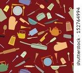 vector kitchen background | Shutterstock .eps vector #152764994