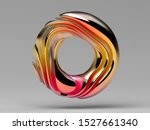 3d Render Of Abstract Ring...