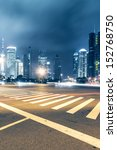 the light trails on the modern... | Shutterstock . vector #152768750