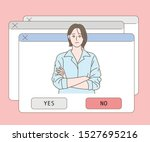 there are several popup windows ... | Shutterstock .eps vector #1527695216