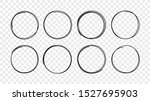 hand drawn circle sketch frame... | Shutterstock .eps vector #1527695903