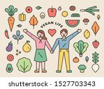 Various Vegetables And Fruits...