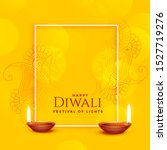 happy diwali yellow background... | Shutterstock .eps vector #1527719276