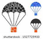 parachute mosaic of round dots...   Shutterstock .eps vector #1527725933