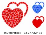 love hearts composition of...   Shutterstock .eps vector #1527732473