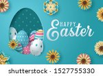 Easter Card With Paper Cut Egg...