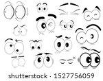 cartoon eyes character in vector   Shutterstock .eps vector #1527756059