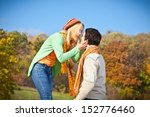 sweet young couple have a fun... | Shutterstock . vector #152776460