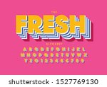 vector of stylized modern font... | Shutterstock .eps vector #1527769130