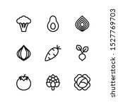 vegetables line icons set ... | Shutterstock .eps vector #1527769703