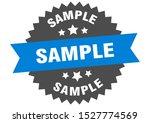 sample sign. sample blue black...   Shutterstock .eps vector #1527774569