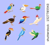 big set birds. birds flying ... | Shutterstock .eps vector #1527785543