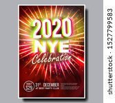 2020 christmas party flyer...   Shutterstock .eps vector #1527799583