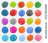 25 circle form brush stroke.... | Shutterstock .eps vector #152781008