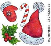 seth christmas  hat  mittens ... | Shutterstock . vector #1527820193