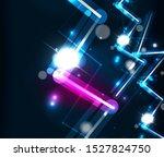 neon zig zag lines  glowing... | Shutterstock .eps vector #1527824750