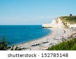 etretat aval cliff  rocks and... | Shutterstock . vector #152785148