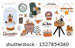 scandinavian interior with... | Shutterstock .eps vector #1527854360