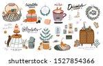 scandinavian interior with... | Shutterstock .eps vector #1527854366