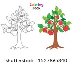 Apple Tree Coloring Book Page....