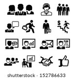 vector black business persons... | Shutterstock .eps vector #152786633