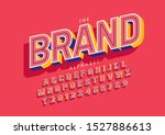 vector of stylized modern font... | Shutterstock .eps vector #1527886613