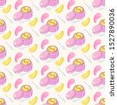 seamless pattern  golden and... | Shutterstock .eps vector #1527890036
